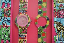 New LILLY PULITZER PARTYLAND PATCH Wrist Watch Set of 2 Changable Bands Elephant