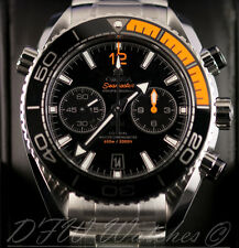 Omega Seamaster Planet Ocean Chronograph 215.30.46.51.01.002 NEW Black Orange