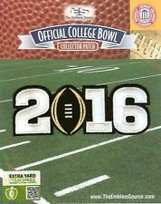 2016 CFP BCS National Championship Patch Worn by Clemson Black Football Official