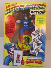 VINTAGE 1984 MARVEL CAPTAIN AMERICA GUMBALL MACHINE COIN BANK IN BOX SECRET WARS