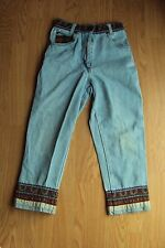 Girls French Toast 100% Cotton Capri Cropped Ankle Denim Jeans Size 8