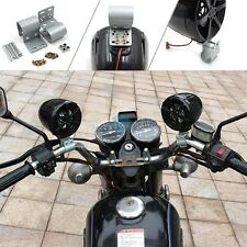 Pair LED Handlebar Mount Speakers For Motorcycle Bike Audio Stereo Sound System