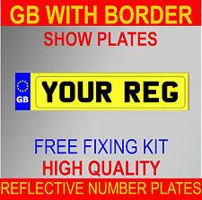 Número de inscripción de alta calidad placas placas muestran Trasero Amarillo coche furgoneta remolque remolque