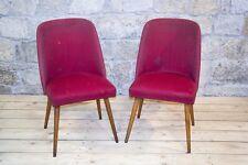 2 Piezas silla Culto Retro Asiento de club Lounge Plazas - Silla Tela Par