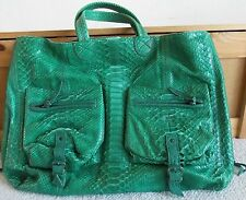 Jerome dreyfuss Green Python MAX leather tote shoulder bag $2200+tax *ONLY ONE*
