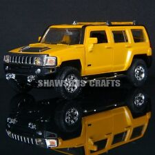 DIECAST METAL 1:32 MODEL CAR TOYS SOUND & LIGHT PULL BACK HUMMER H3 REPLICA