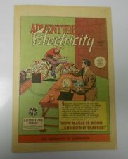 1947 6/47 ADVENTURES IN ELECTRICITY #1 Give-Away PROMO VF/NM General Electric