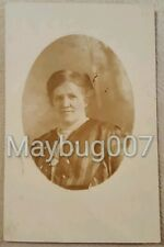 Vintage Real Photo Postcard 1913 Wagner family history lady Oklahoma estate
