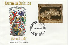 GB Locals - Bernera (2279) - 1985 Gold Cars Kissel Goldburg  on First Day Cover
