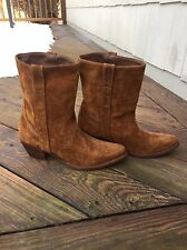 Steve Madden Western Cowboy Boots Copper Suede Genuine Leather 11M