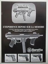 5/1985 PUB BERETTA PM 12S WEAPON AUTOMATIC RIFLE PISTOLET AUTOMATIQUE 92F AD