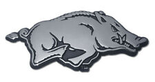 university of arkansas tusk chrome logo running hog auto car emblem made in usa