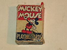 rare 1930s MICKEY MOUSE PLAYING CARDS IN BOX, FULL SET, VHTF ~LOOK~