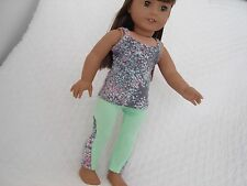 """Key Lime Pie Tank Top and Lola Leggings for 18"""" Dolls American Girl Doll Clothes"""
