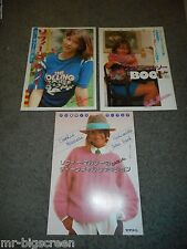 SOPHIE MARCEAU - 3 DIFFERENT JAPANESE BOOKLETS - LA BOUM 2
