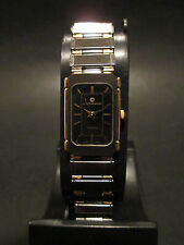 A56 NEW WOMEN'S JB CHAMPION Gold BLK Dress Steel Band WATCH Square VINTAGE Dress