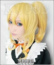 Love Live LoveLive! Eli Ayase Anime Cosplay Costume Wig +Ponytail +Free CAP
