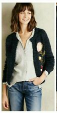New Anthropologie $158 Vertical Garden Cardigan by Moth Sz M Size Rare Sweater