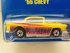 1990 HOT WHEELS #95 BLUE CARD / 10 SPEED POINTS - '55 CHEVY  - DIECAST