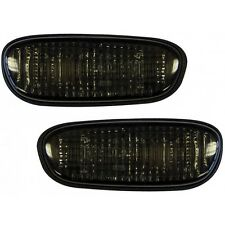 Depo Side Marker Lights Repeaters Pair Smoked Subaru Impreza 1993-1999