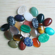 Wholesale 30pcs/lot natural gemstone mixed Oval CAB CABOCHON stone beads 13x18mm