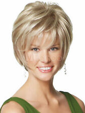 Perücke Neu Reizvollen Dame Kurz Blonde Naturhaar-Perücken Mode Sexy Wigs Neu