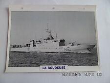 CARTE FICHE NAVIRES DE GUERRE LA BOUDEUSE 1984 PATROUILLEUR