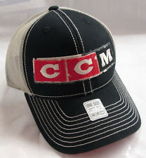 CCM Vintage Hockey Adjustable NHL - Snapback Mesh Back Cap / Hat - Black