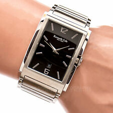 KENNETH COLE KC3429 All Stainless Steel Black Dial Working Men's Watch 64004