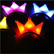 4Pcs Light-Up Glow Princess Tiara Crown LED Blinking Headband For Birthday Party
