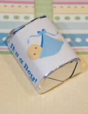 30 Baby Shower Its A Boy Blanket Hershey Candy Nugget Wrappers Stickers