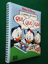 WALT DISNEY - MANUALE DEI GIOCHI DI QUI QUO QUA , Ed Mondadori (1993)