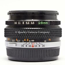 Olympus 28mm f/3.5 Auto-W - G.ZUIKO OM-SYSTEM WIDE ANGLE PERFECT OPTICS SUPERIOR