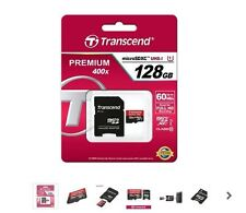 Genuine Transcend Premium Micro SD SDXC Class10 128GB UHS-I 400X TF Card memory