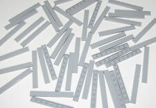Lego Lot of 50 New Light Bluish Gray Tiles 1 x 8 Flat Smooth Parts Pieces