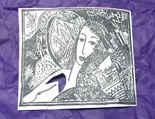 Artistic Nude artwork rubber stamp unmounted die only Collage unique woman lady