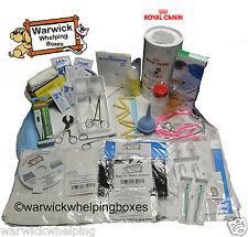 Warwick Deluxe parto Kit Con Royal Canin Dog Puppy Milk & Botella Set Caja