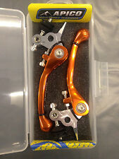 KTM  SX85  SX 85   2014 -2016   FLEXI  FLEXIBLE LEVER LEVERS SET  ORANGE