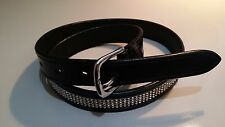 """Horse riding belt with 4 rows of crystals 32"""""""