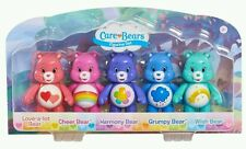 NIB *Care Bears* LOVE-A-LOT CHEER HARMONY WISH & GRUMPY 5 Piece Figurine Set!