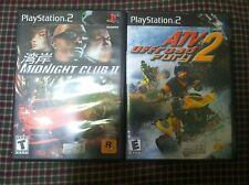 2 games Midnight Club two and ATV OFFROAD FURY 2 PlayStation PS2
