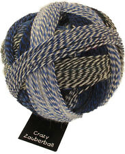 Crazy Zauberball 100g  Schoppel Farbe 2099 Pause in blau Wolle Sockenwolle