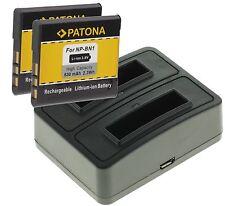 Dual 2fach LADEGERÄT+ 2x BATTERY AKKU NP-BN1 f. Sony Cyber-shot DSC-W670
