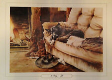 A Dog's Life - Ros Goody - Watercolour Print - 615mm X 450mm