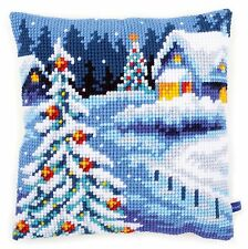 Winter Scenery :Vervaco Chunky Cross Stitch Cushion Front Kit - PN0154633