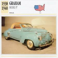 1938-1940 GRAHAM MODEL 97 Classic Car Photograph / Information Maxi Card