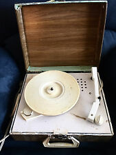 Vintage TELE-TONE Portable Turntable 3 Speed Record Player Suit Case Works GREAT
