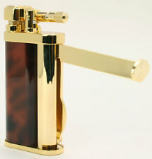 Tsubota Pearl EDDIE Brass & Brown Marble Pipe Lighter w/Tools Seki Japan Old Boy