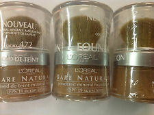 4 X L'Oreal Bare Naturale Mineral Makeup - COCOA 472 NEW