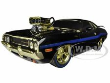 """Chase Car"" 1970 DODGE CHALLENGER R/T 75TH MOPAR ANNIVERSARY BLACK 1/18 M2 91165"